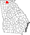 Map of Georgia highlighting Gilmer County.svg