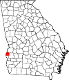 Map of Georgia highlighting Quitman County.svg