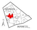 Map of Lebanon County, Pennsylvania Highlighting North Annville Township.PNG