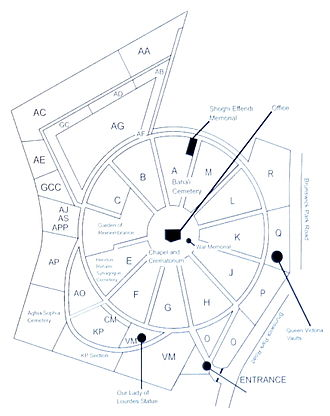New Southgate Cemetery - The cemetery was laid out on a spoke and wheel plan by Alexander Spurr.
