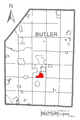 Map of Oak Hills, Butler County, Pennsylvania Highlighted.png