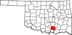 State map highlighting Johnston County