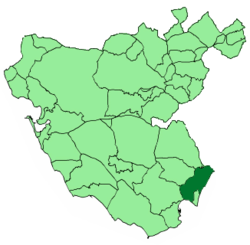 Location of San Roque