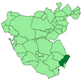 Mappa del comune nella provincia