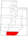 Map of Utah highlighting Kane County.png