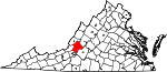 State map highlighting Botetourt County