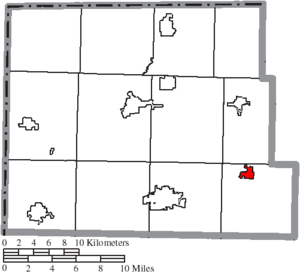 Stryker, Ohio - Image: Map of Williams County Ohio Highlighting Stryker Village