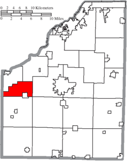 Location of Weston Township in Wood County
