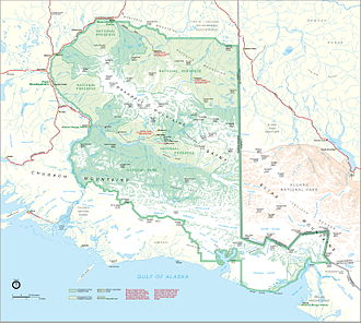 Wrangell–St. Elias National Park and Preserve - Map of Wrangell–St. Elias National Park