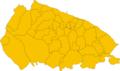 Map of municipalities of the metropolitan city of Bari, region Apulia, Italy.png