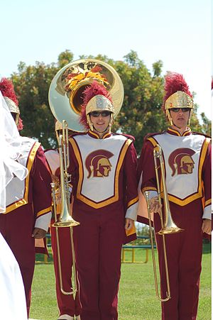 Marching band in California