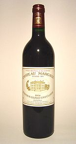Château Margaux, a First Growth from the Bordeaux region of France, is highly collectible.