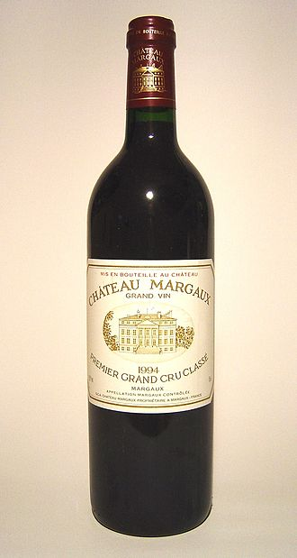 Investment wine - Château Margaux, a First Growth from the Bordeaux region of France, is highly collectible.