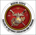 Marine Corps College of Distance Education and Training logo 01.png