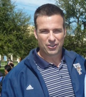 Mario Cristobal - (Cristobal as FIU head coach in 2011)