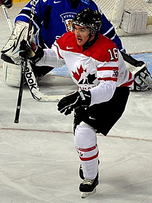 Mark Stone (ice hockey) - Image: Mark Stone goal WJC12 crop