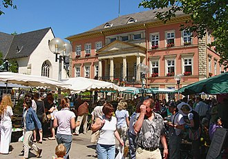 Detmold - Market and town hall.