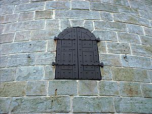 The Battlefields Park - Martello Tower door