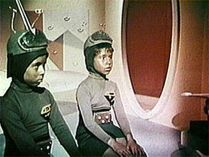 Santa Claus Conquers the Martians - A scene from the film featuring Bomar (Chris Month) and Girmar (Pia Zadora)