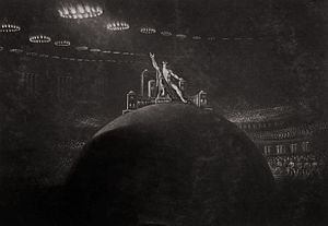 Paradise Lost - John Martin, Satan Presiding at the Infernal Council, c.1823-1827.
