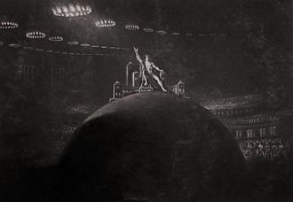 Paradise Lost - John Martin, Satan Presiding at the Infernal Council, c. 1823–1827