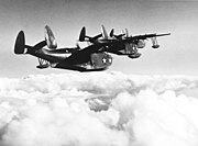 Martin PBM Mariners in flight near NAS Banana River, in March 1943 (80-G-405382)