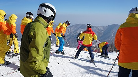 Foreign tourists in Masikryong Ski Resort Masikryong North Korea Ski Resort (12300043424).jpg