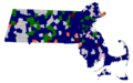 Massachusetts Green-Rainbow Party Presidential Primary Results By Town, 2008.png