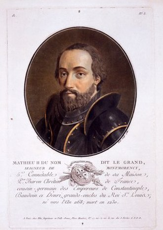 Matthew II of Montmorency - Imaginative gravure of Mathieu II de Montmorency from 1788.