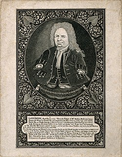 Matthias Buchinger, a phocomelic. Engraving after a self por Wellcome V0007013.jpg