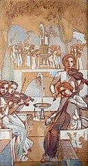 Etude pour Le quatuor, décor de l'Eternel Eté