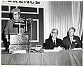 Mayor John F. Collins with Eleanor Roosevelt and Supreme Court Justice Arthur Goldberg (10158804905).jpg