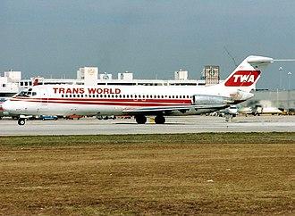 TWA Flight 541 - A TWA DC-9, similar to the aircraft involved in the hijack