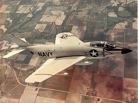 McDonnell F3H-2N Demon in flight in 1956.jpg