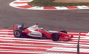 Allan McNish - McNish's Toyota engine fails at the 2002 French Grand Prix.