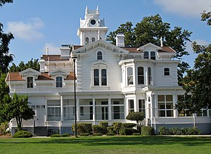 Meek Mansion - Meek Mansion in 2008, photographed from the south end of Meek Park