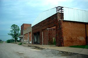 Megargel, Texas - A row of abandoned shops in Megargel