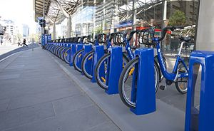 Melbourne Bike Share station outside Southern ...