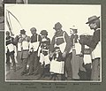 Members of the expedition taking part in a lifeboat drill aboard the GEORGE W ELDER, June 1899 (HARRIMAN 99).jpg
