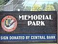 Memorial Park sign in Springville, Utah, Aug 15.jpg