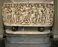 Met, roman, sarcophagus with dyonisus on a panther w. attendants, four seasons, tellus and ocean 220-230 ca. 01.JPG