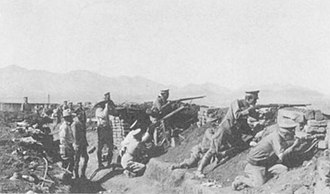 Siege of Naco - Image: Mexican Army In Trenches Siege of Naco Sonora 1929