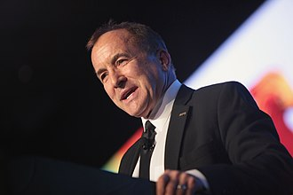 Michael Shermer - Shermer giving a talk at FreedomFest in Las Vegas, Nevada in July 2016.