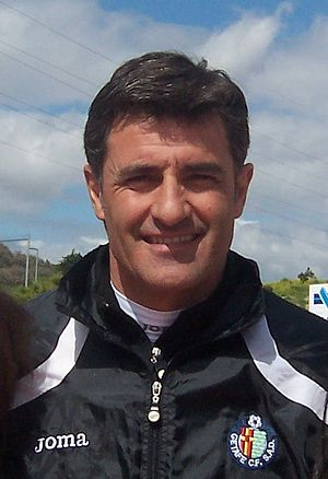 Míchel (footballer) - Míchel as Getafe coach in 2011