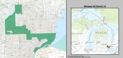 Michigan's 14th congressional district - since January 3, 2013.
