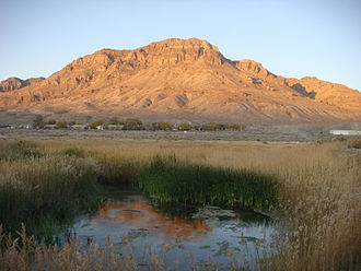Spring (hydrology) - Sunrise at Middle Spring, Fish Springs National Wildlife Refuge, Utah