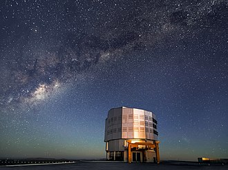 Gravity - Image: Milky Way Emerges as Sun Sets over Paranal