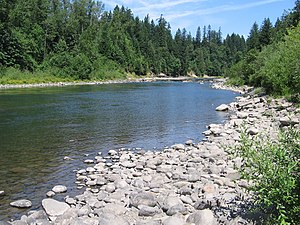 Clackamas County, Oregon - Clackamas River flowing through Milo McIver State Park