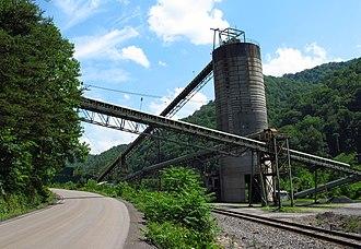 Big Rock, Virginia - Coal tipple in Big Rock