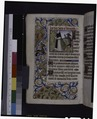 Miniature of Bernard and demon, border design, small initials, linefillers (NYPL b12455533-426015).tif